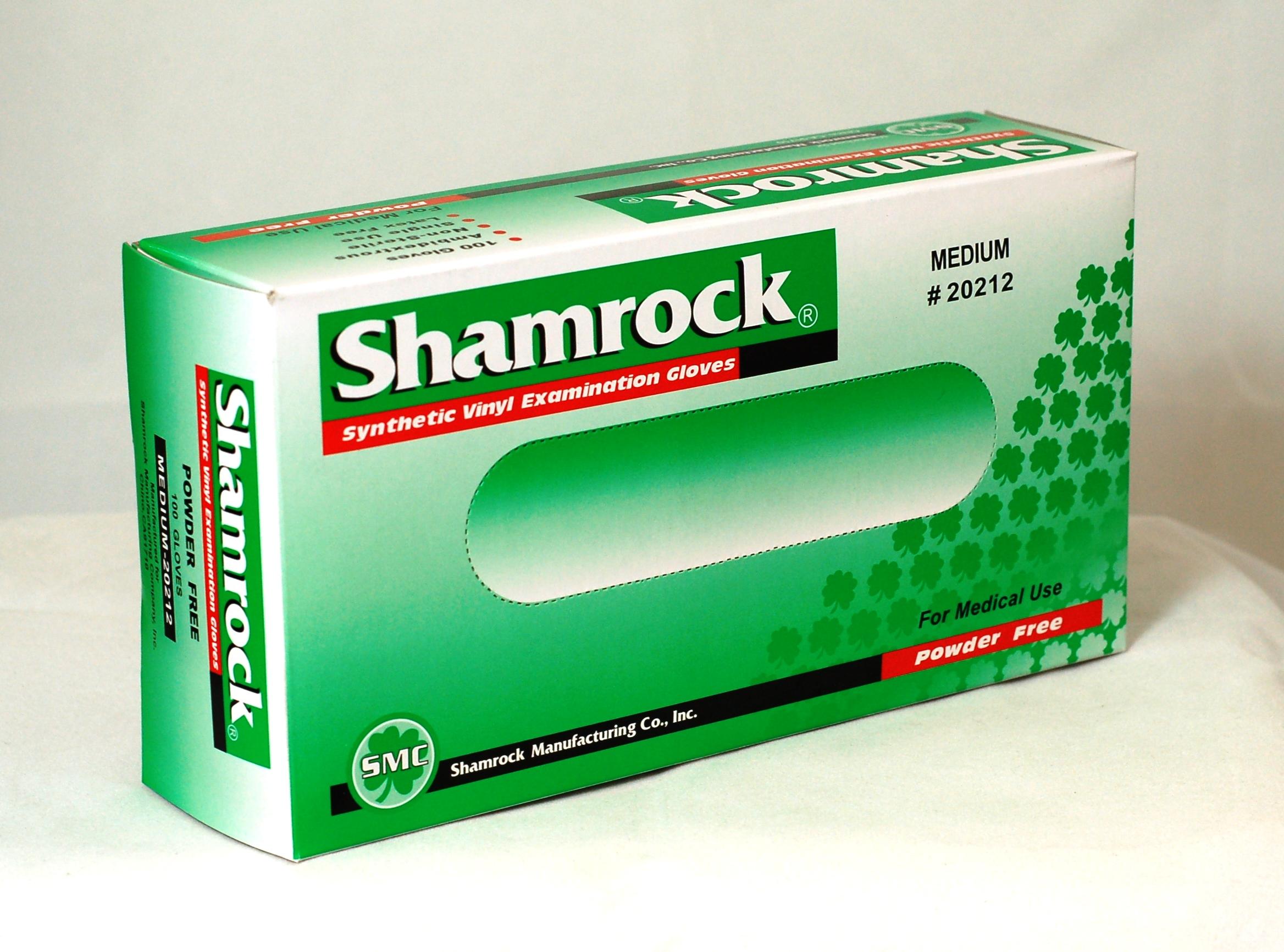 Shamrock 20000 Series Powder Free Vinyl Examination Gloves